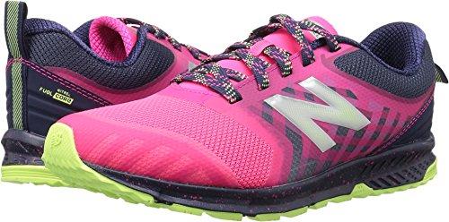 (New Balance Kids'  V3 Trail-Runners,Pink/Grey,4.5 Medium US Little)