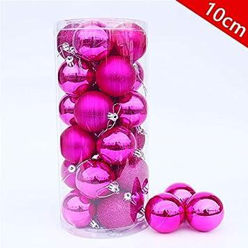 QZXCD Bolas de Navidad Bolas de Navidad 20 Bolas de cañón Paquete de 10 cm Bolas de baño Grandes Bolas Brillantes Encanto Decoraciones para árboles de Navidad I