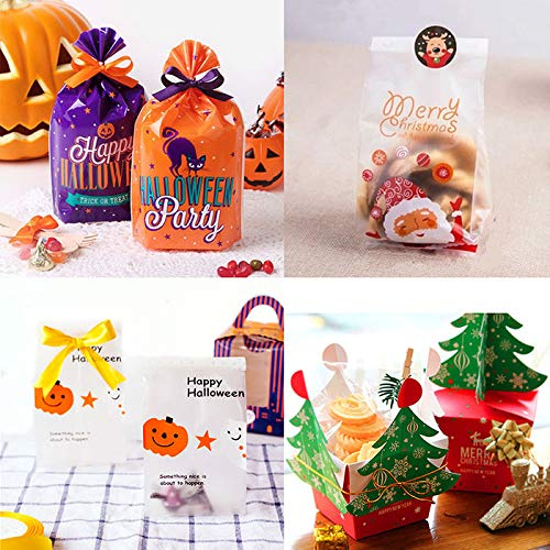50Pcs/1Pc Christmas Halloween Candy Biscuit Small Gift Packaging Bags Good for Party Suppliers