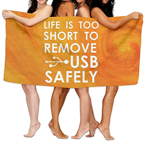 Life Is Too Short To Remove USB Safely Over-Sized Cotton Batch Towel (Lifes Too Short To Safely Remove Usb)