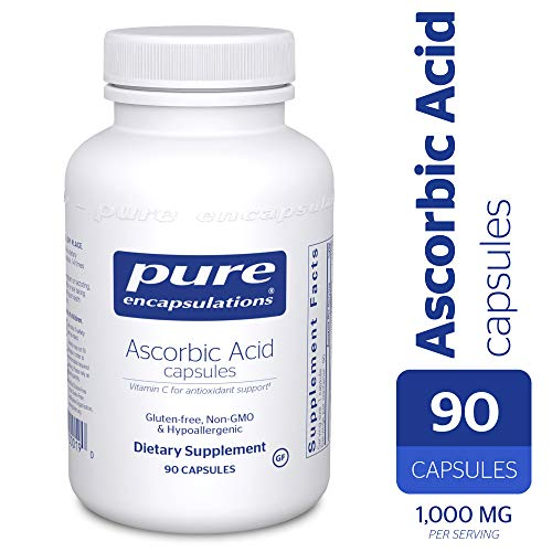 (Pure Encapsulations - Ascorbic Acid Capsules - Hypoallergenic Vitamin C Supplement for Antioxidant Support* - 90 Capsules)