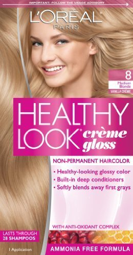 loreal paris healthy look creme gloss color medium blondevanilla creme 8 - L Oral Gloss Color
