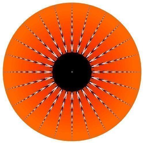Tapis de Tourne Disque Vinyle x1 Oeil Orange 30cm Pour dmc technics Pioneers - Idée Cadeau pour DJ