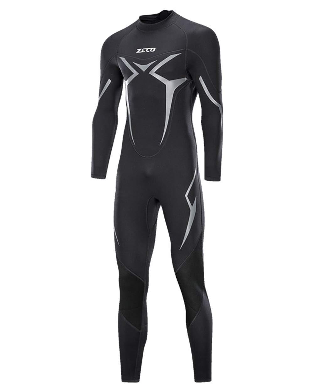 XXXXL Combinaisons Néoprène pour Homme en Néoprène pour Hommes Retour Zipper Scuba Super Stretch Surf Suit Plongée en Apnée Surf,XXXXL