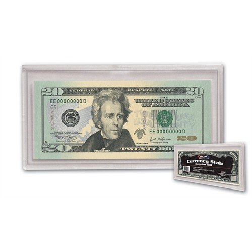 (1) US Currency Paper Money Bill Protector Slab Holder for Regular Bills by BCW