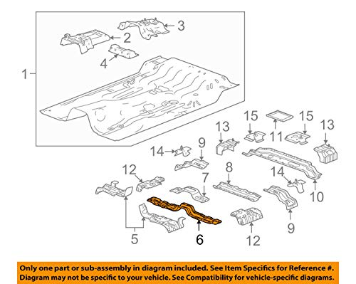 General Motors Hummer - General Motors Hummer GM OEM 06-10 H3 Floor-Seat Cross Member 97247343