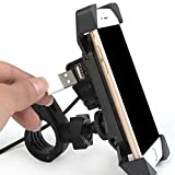 Best SQdeal Iphone 5s Phone Cases - NOVPEAK Motorcycle Phone Mount Holder with USB Charger Review