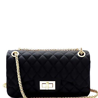 69d35a1a0fd Matte Texture Quilted Jelly Medium 2-Way Shoulder Bag Cross Body Bag ...