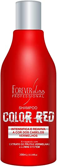Shampoo Red, FOREVER LISS, Vermelho, 300ml