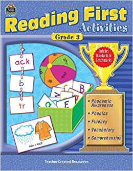 Worksheets Sample Reading Materials For Grade 3 reading first activities grade 3 teacher created materials 3023 jennifer overend prior 9780743930239 amazon com books