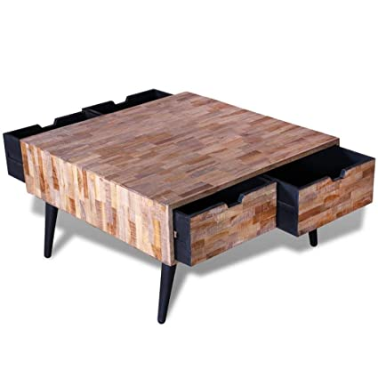 Amazon.com: Vintage Industrial Coffee Table Reclaimed Solid ...