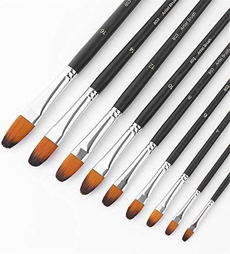 画筆セット 803 9個/セット水彩石油アクリルブラシアーティストがセット塗料用ナイロンヘアオイルブラシラウンドブラシ絵画ペイン