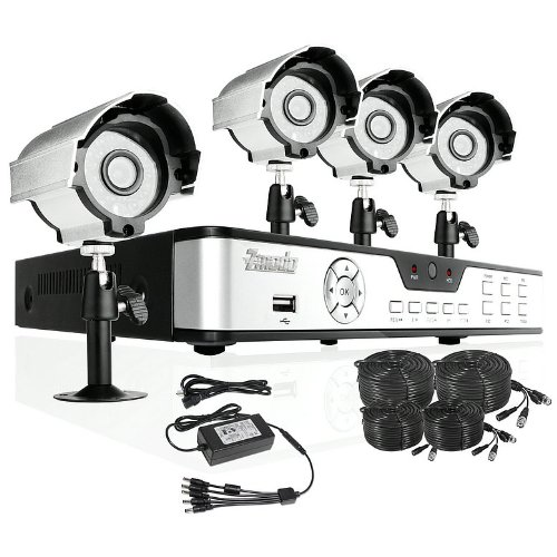 ZMODO DVR-DK41103-1TB CCTV 4 CH Home Security DVR Outdoor Security Camera System 1TB