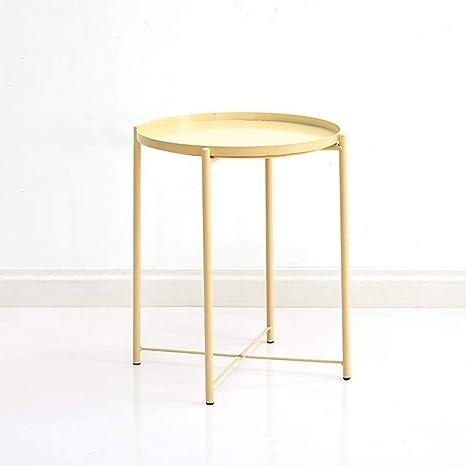 Amazon.com: LIJUN123 mesa auxiliar redonda de 16.9 in, mesa ...