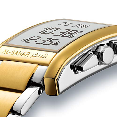 Al-sahar Azan Digital Watch, Muslim Watch for Prayer Times, Islamic Azan Times, Azan Watch, Muslim Watches for Men