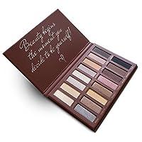 El mejor maquillaje de paleta de sombra de ojos Pro - Matte Shimmer 16 colores - Altamente pigmentado - Desnudos profesionales Cálido Bronce natural Neutral Humo Sombras de ojos cosméticas