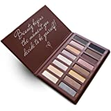 Best Pro Eyeshadow Palette Makeup - Matte + Shimmer 16 Colors - Highly Pigmented - Professional Nudes Warm Natural Bronze Neutral Smoky Cosmetic Eye Shadows
