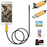 Aobiny Webcam Endoscope Inspection 2 in 1 Android USB 7mm Camera 6 LED HD IP67 Waterproof
