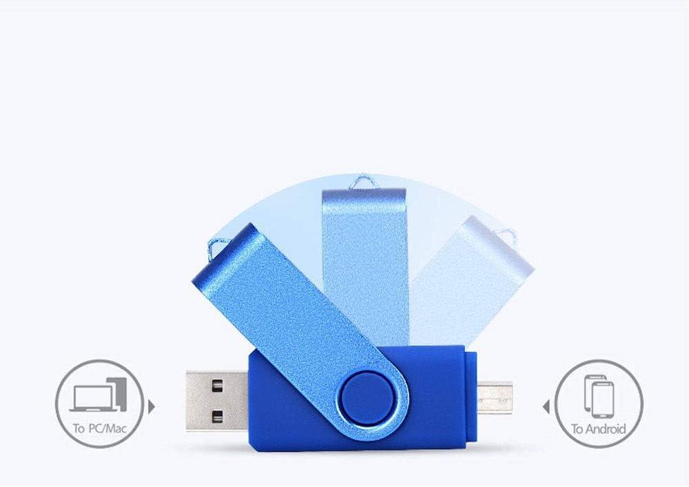 Color : Red, Size : 32G XHMCDZ 32GB USB Flash Drive USB 2.0 Thumb Drives Jump Drive Fold Storage Memory Stick Swivel Design OTG Micro USB Flash Drive Memory Stick for Android Smart Phone Tablet
