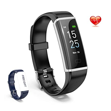 DVEDA Fitness Tracker HR, Activity Tracker Watch with Heart Rate Monitor,Color Screen Smart Watch with Sleep Monitor,Step Counter, Calorie Counter,IP68 Waterproof Pedometer Watch for Kids Women Men