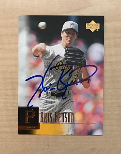 KRIS BENSON PITTSBURGH PIRATES SIGNED AUTOGRAPHED 2001 UPPER DECK CARD#245 W/COA