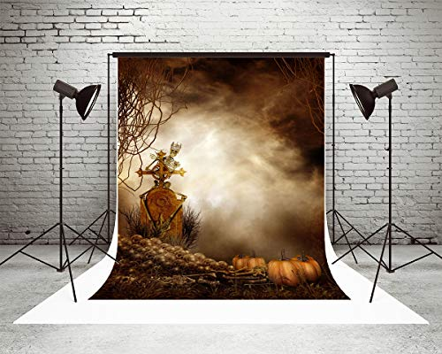 Kate 10x10ft Halloween Photography Backdrops Zombie Pumpkin Horror Outdoor Night Scene Photo Background