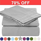 Microfiber Twin Size Bed Sheet Set - Extra Deep Pocket - Stain Resistant, Warm, Breathable And Hypoallergenic - 3 Piece (Grey) - TEKAMON