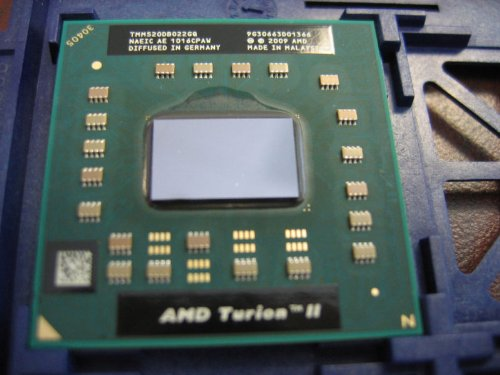- AMD Turion II Dual Core M520 Mobile CPU 2.3GHz 1MB Socket S1G3 638pin - TMM520DBO22GQ