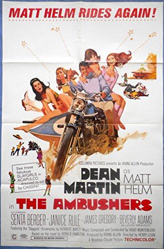 THE AMBUSHERS MOVIE POSTER Dean Martin Senta Berger Matt Helm 1sht 1967 - Ambushers Poster