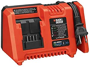 Black & Decker L2AFCBST 20V Max Lithium Ion Fast Charger with Flash Charge