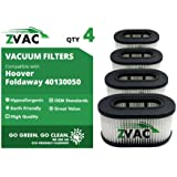 4 Hoover Part Number 40130050 Cartridge Filter Type 50 Fits Foldaway Model U5172-900 By ZVac