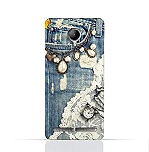 Lenovo C2/Lenovo C2 Power TPU Silicone Case With Modern Jeans Pattern