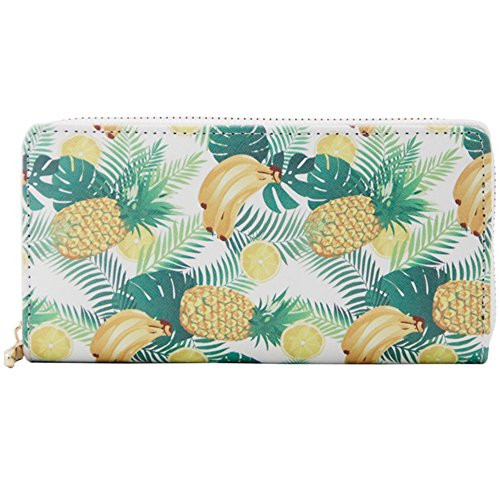 Zipper Badiya Holder Pineapple Credit Purse 7 Clutch Print Wallet Pattern Card Designer HHtzrwaqF