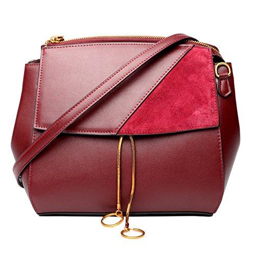 Bags Vera Donna Spalla Vino Rosso Messenger Borse Saierlong Pelle Crossbody tqwz1wS