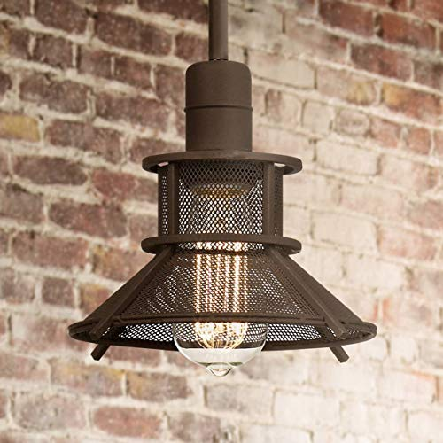 "Glasgow Olde Bronze 8 1/2"" Wide 1-Light LED Mini Pendant - Franklin Iron Works"