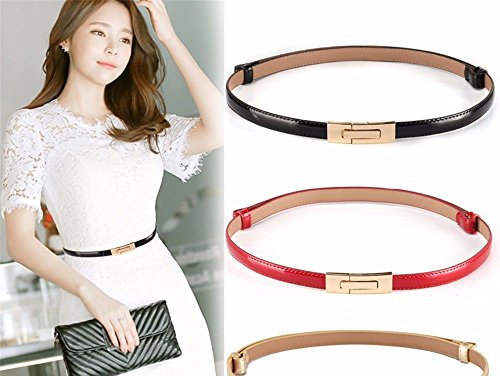 with fine U Belt G Decorated Dresses Decorative Belt Simple Fashion Leather Women 6CwxTYT