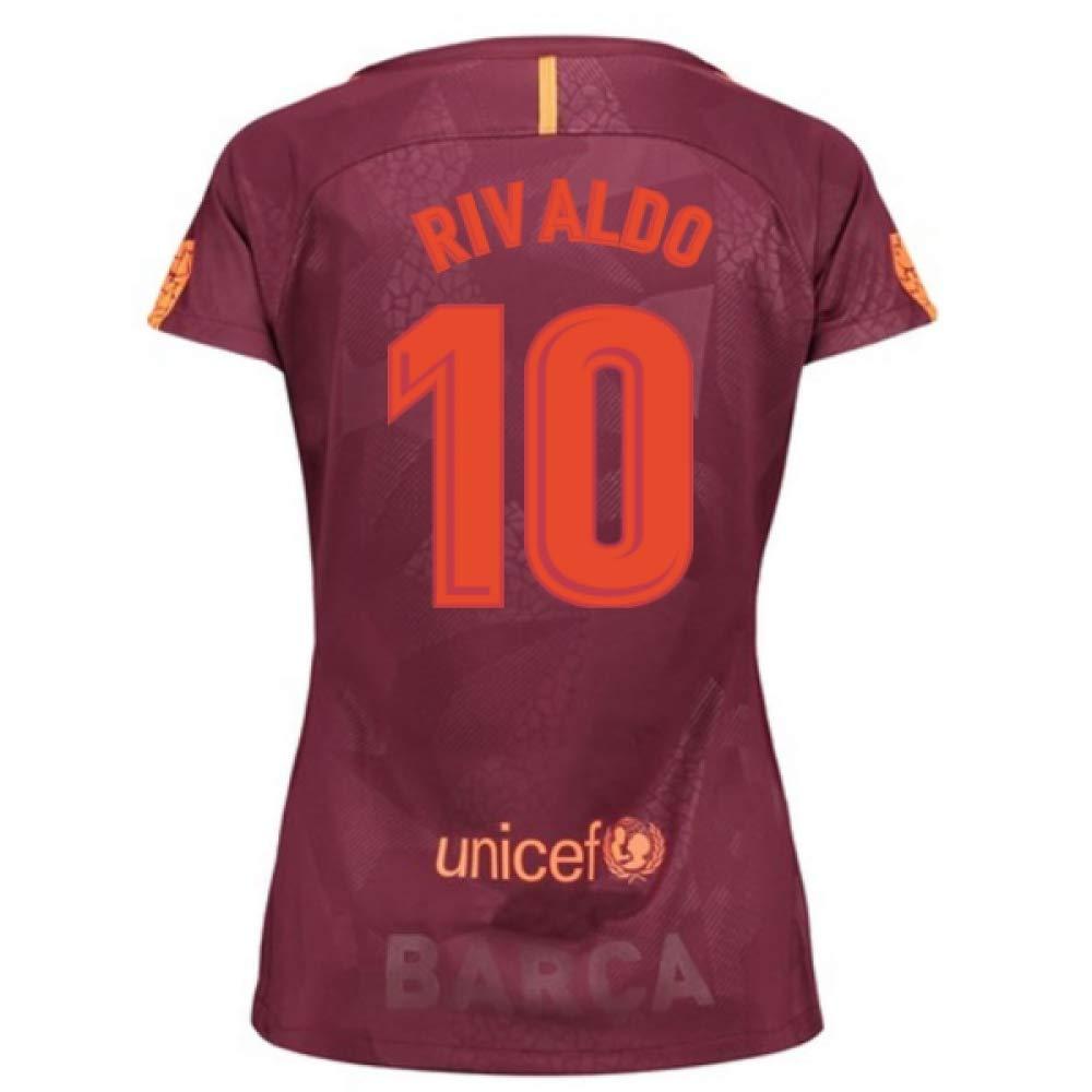 2017-18 Barcelona Third Damens Football Soccer T-Shirt Trikot (Rivaldo 10)