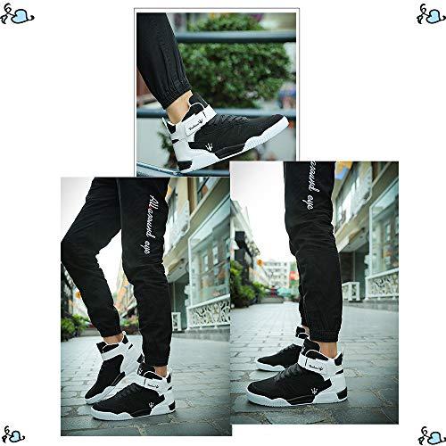 en Noir Baskets Haute Sneaker Cuir Mode Sneakers Chaussures Noir Mode Sneakers Hommes Hommes MUOU Respirant Top 0 Hommes 4xqPRZwc