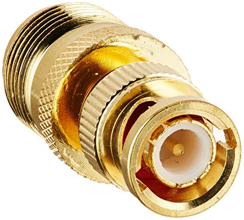 Monoprice 104124 BNC Male to N Female Adaptor, Gold Plated