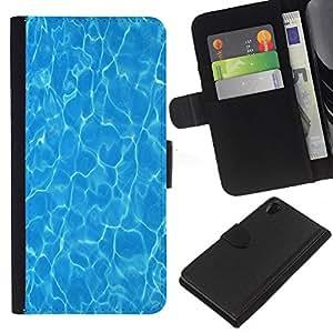 EJOY---La carpeta del tirón la caja de cuero de alta calidad de la PU Caso protector / Sony Xperia Z2 D6502 / --Agua Surf Verano Mar reflectante
