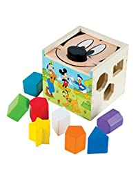 Melissa & Doug Mickey Mouse & Friends Wooden Shape Sorting Cube Baby Toy BOBEBE Online Baby Store From New York to Miami and Los Angeles