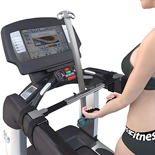 TreadFitt Treadmill Machine Equipment Mount with Resistance Bands Bundle - Total Home Aerobic Gym Workout Exercise Trainer, Running, Cardio, Adjustable, Compact, Portable, Dumbbell Free Treadmills