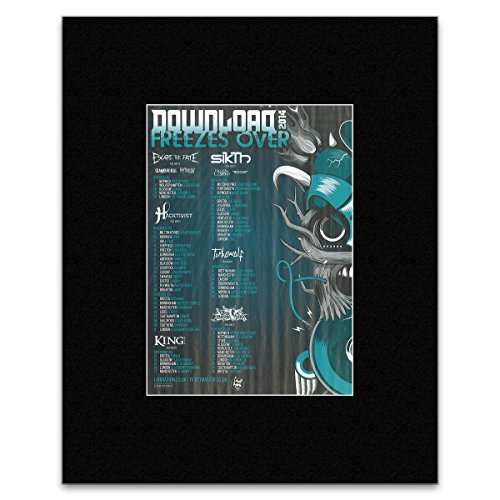DOWNLOAD FREEZES OVER - 2014 - Escape The Fate Sikth Turbowolf Matted Mini Poster - 28.5x21cm