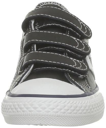 Converse Sp Ev 3V Lea Ox 290330-31-8 - Zapatillas para niños Negro (Schwarz (Noir/Blanc))