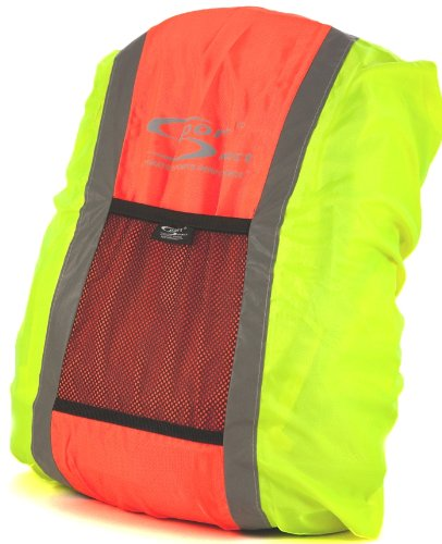 Sport Direct High Visibility Reflective Waterproof Backpack Cover Orange/Yellow