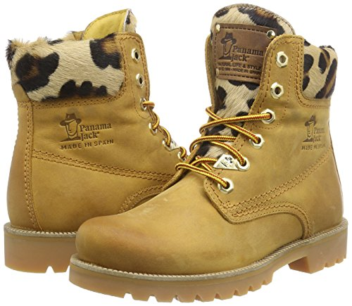 Image of the Panama Jack Boot Leopard 03 B1 Camel 38 Brown