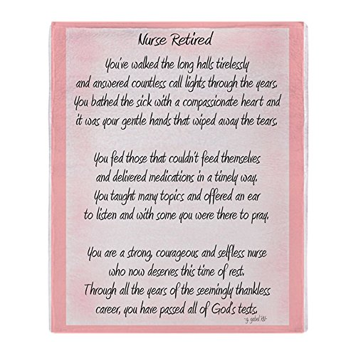 CafePress - Nurse Retired Poem - Soft Fleece Throw Blanket, 50