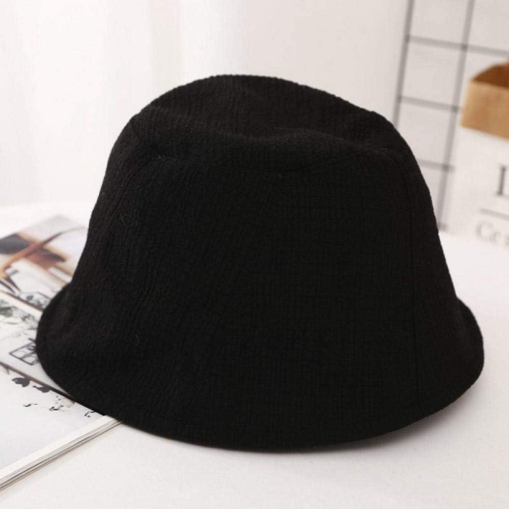 ZCHSLSZ Sombrero De Pescador Mujer, Sombrero De Pescador De Cuadros Finos Mujer Sombrero De Cubo Protector Solar Transpirable De Verano Mujer, Negro