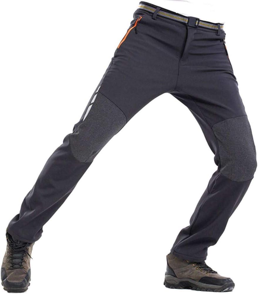 GooDoi Hommes Softshell Pantalon Doubl/é en Polaire Pantalon De Randonn/ée en Plein Air pour Homme Imperm/éable Hiver Pantalon De Randonn/ée Chaud