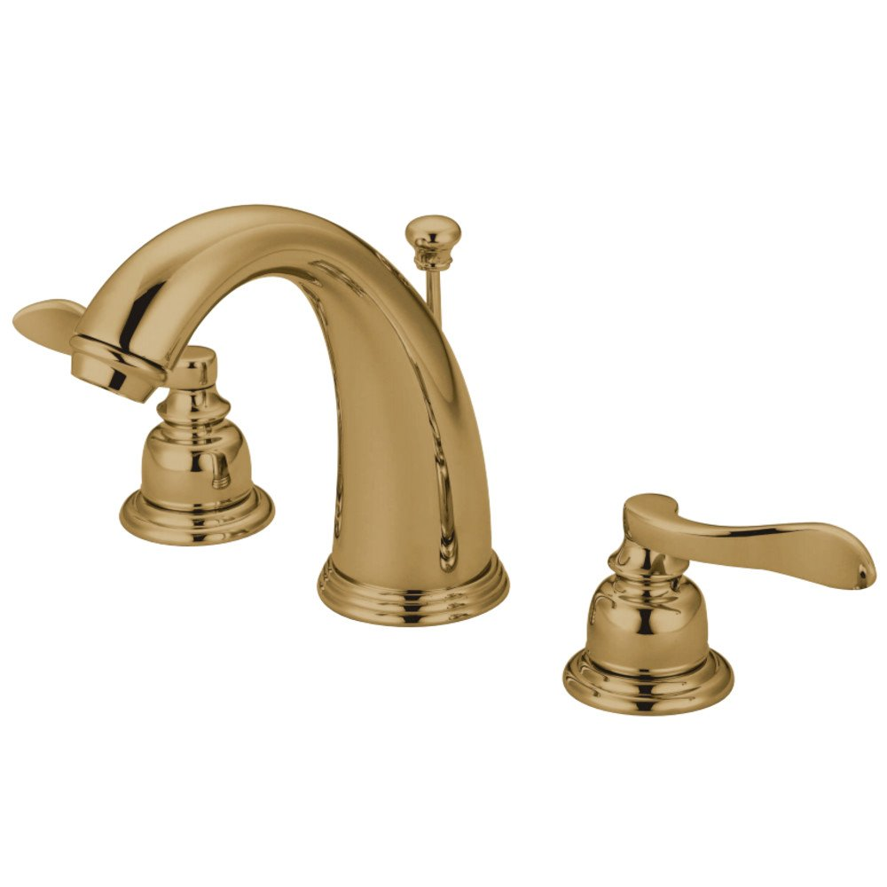 Kingston Brass KB8982NFL NuWave French Widespread Lavatory Faucet with Retail Pop-Up Polished